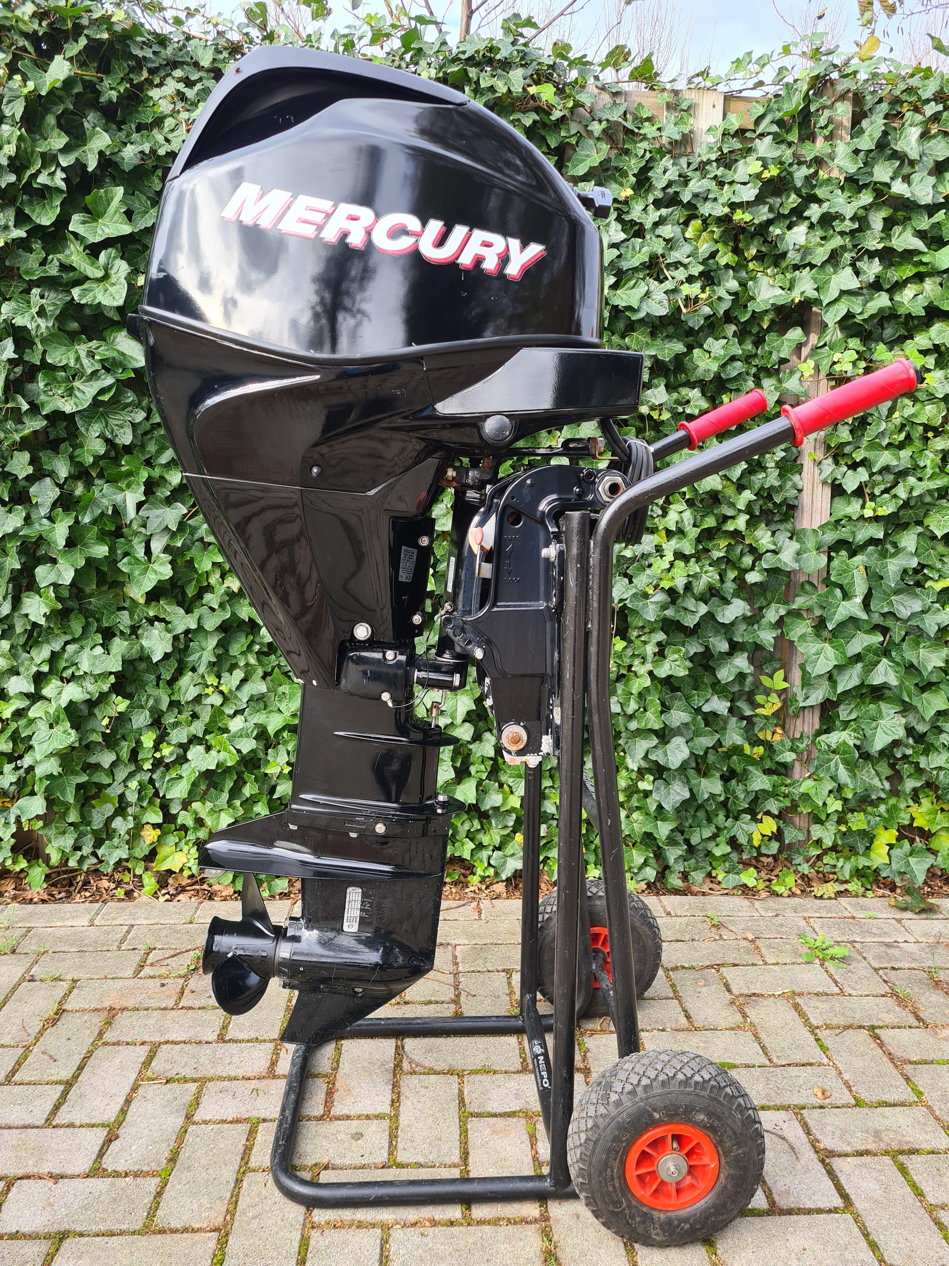 Mercury 30pk EFI 4takt, langstaart, afstandsbediening, gaslift