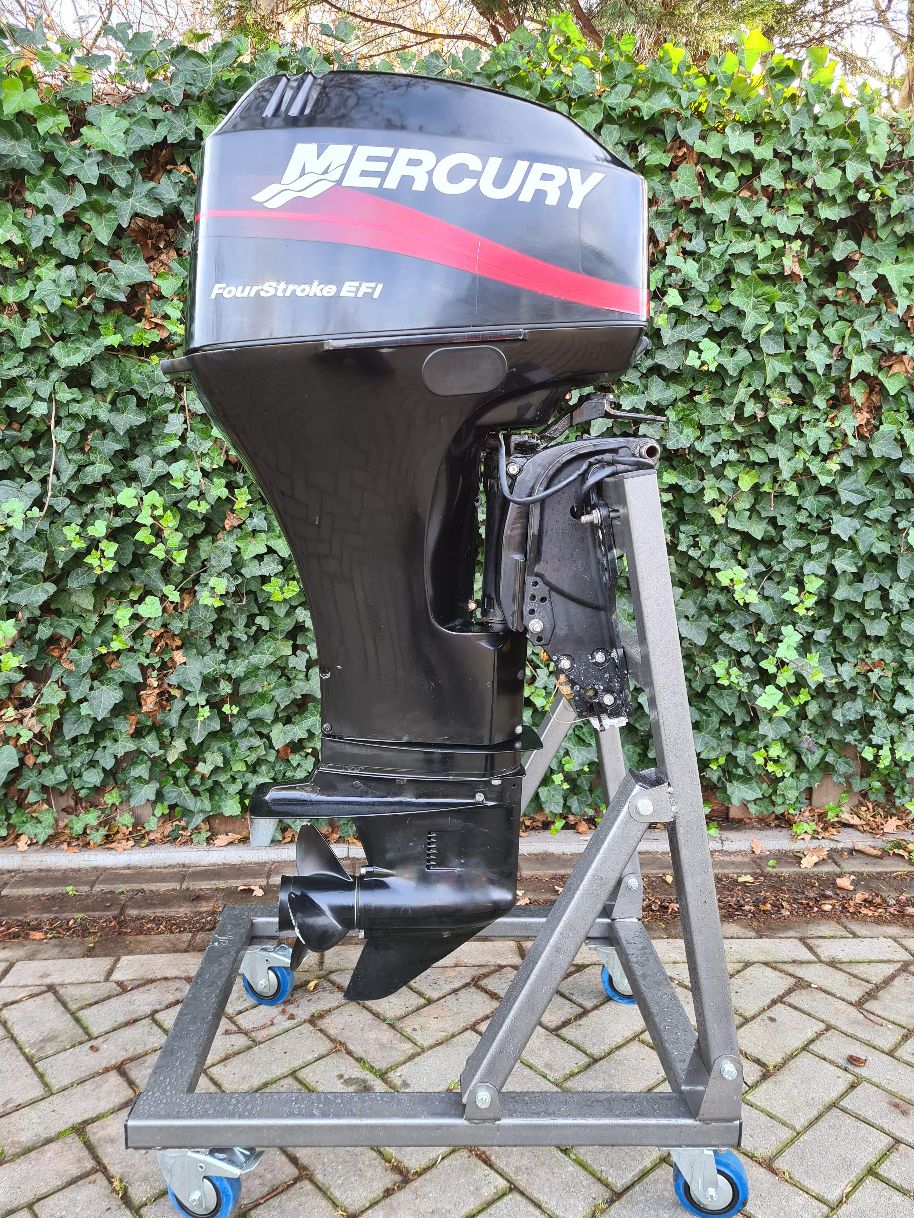 Mercury 40pk EFI, langstaart, afstandsbediening, elektrische start, powertrim