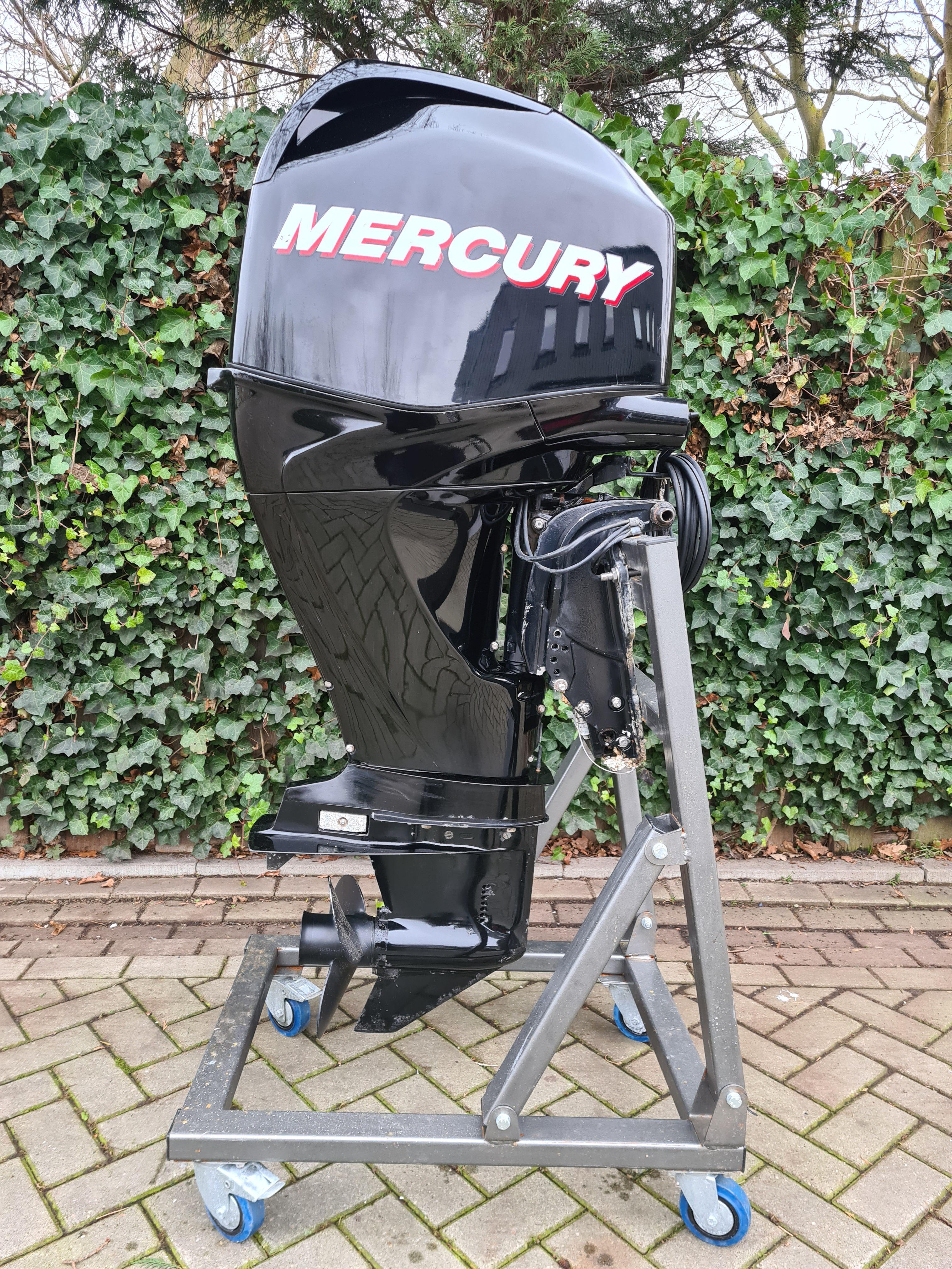 Mercury 60pk EFI 4takt, langstaart, afstandsbediening, elektrische start, powertrim