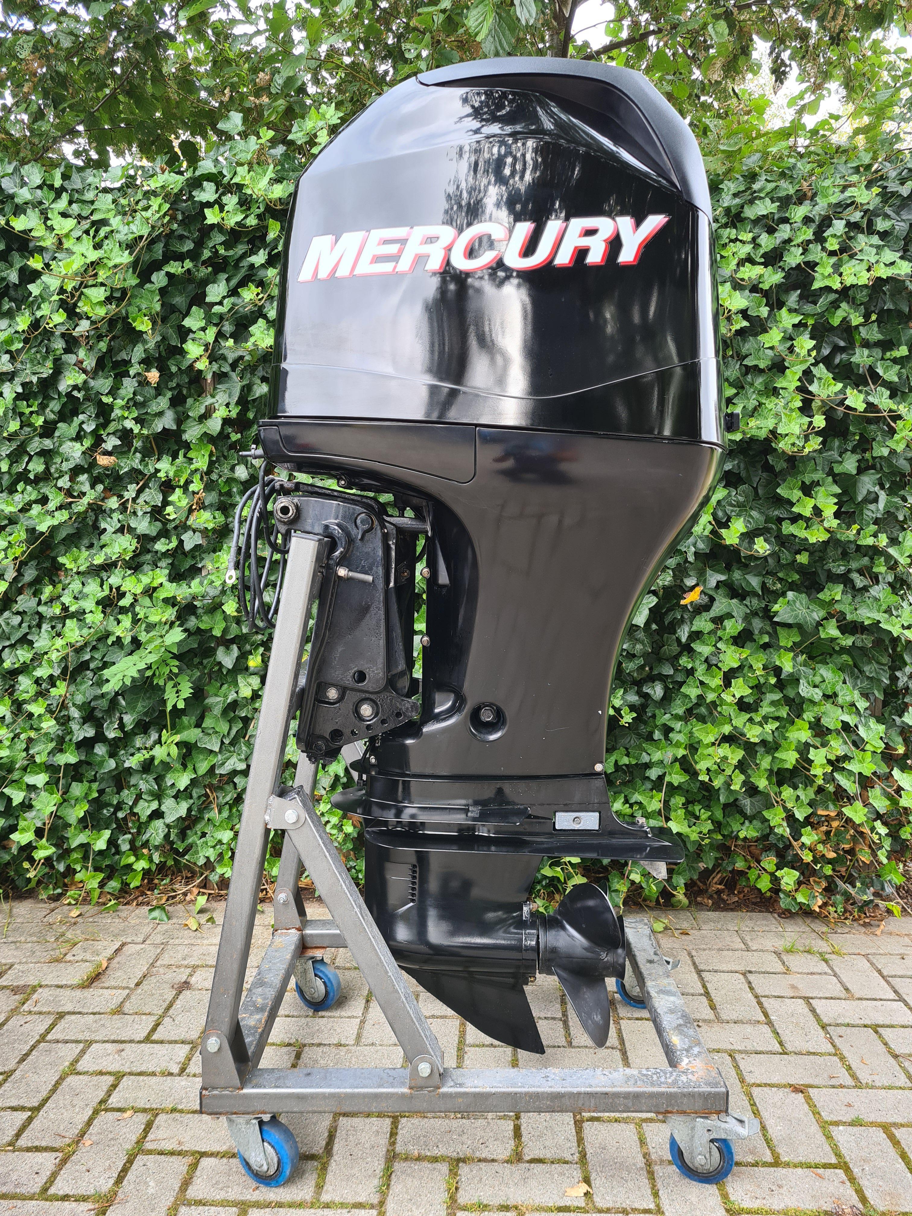 Mercury F115 4takt, langstaart, afstandsbediening, powertrim, elektrische start, tellers